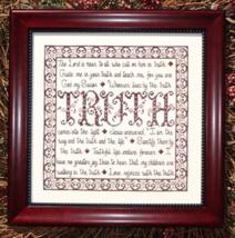 Building Block Truth MBT112 cross stitch chart My Big Toe Designs - $8.00