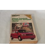 Chiltons Dodge Caravan Plymouth Voyager 1984 - 91 Repair Manual 20849 - $13.99