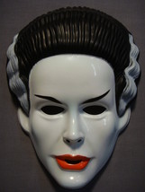 UNIVERSAL CLASSIC MONSTERS THE BRIDE OF FRANKENSTEIN HALLOWEEN MASK PVC NEW - $4.17