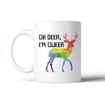 365 Printing LGBT Deer Queer Rainbow White Mug - $14.99