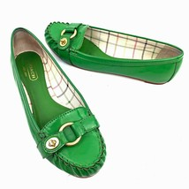 """COACH """"Orchid"""" Green Patent Leather Loafers Women's Size 7.5 Med - $44.54"""