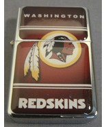 WASHINGTON REDSKINS CLASSIC LOGO REFILLABLE SILVER NFL OIL LIGHTER NEW - $5.74