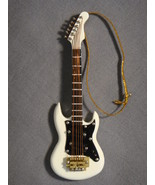 "WHITE 4"" ELECTRIC GUITAR MUSICAL INSTRUMENT HOLIDAY ORNAMENT NEW - $10.84"