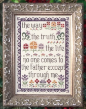 The Way, Truth, Life MBT116 cross stitch chart My Big Toe Designs - $8.00