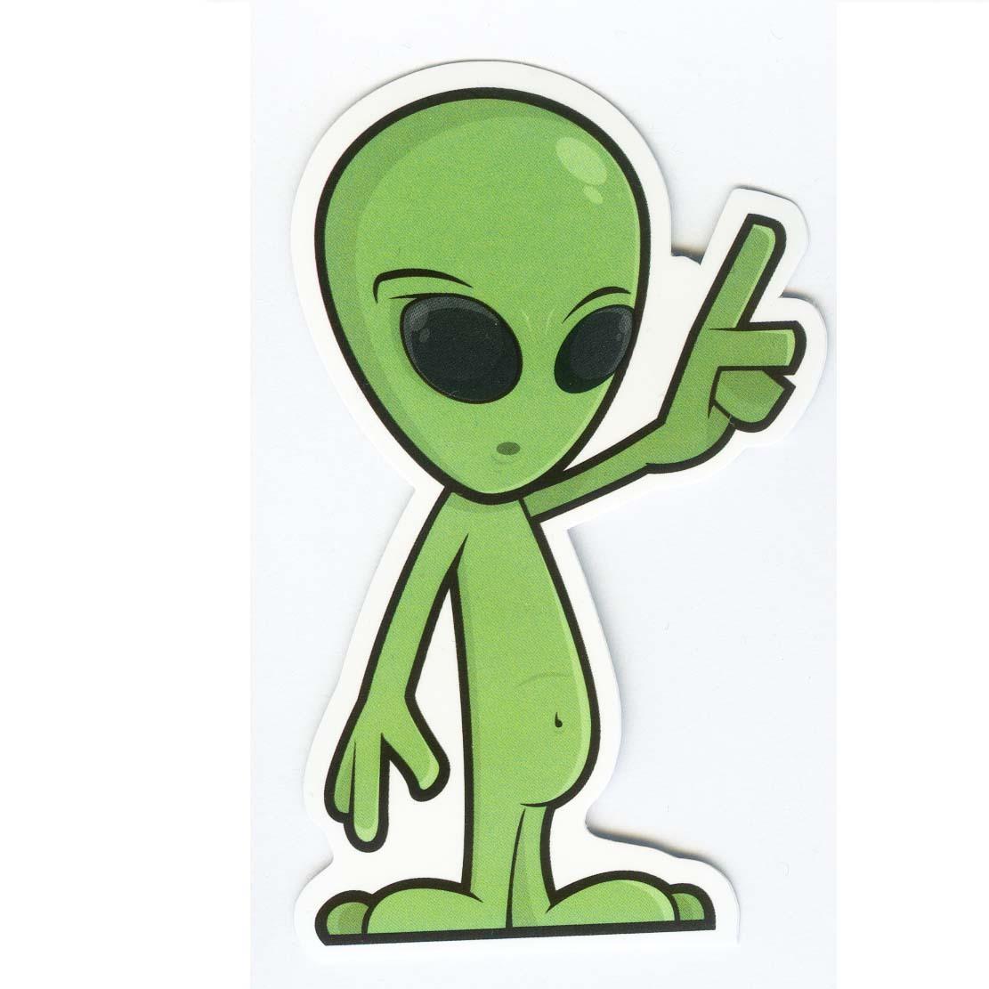 #1001 Alien Cartoon Rock , Height 9 cm, decal sticker