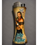 WWE WRESTLER JAKE THE SNAKE ROBERTS ALTERNATE CURVE LIGHTER W/ BOTTLE OP... - $5.74