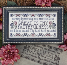 Great Is Thy Faitfulness MBT119 cross stitch chart My Big Toe Designs - $8.00