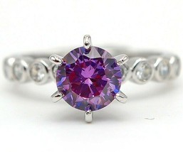 Must Have 2CT Amethyst & Topaz 925 Solid Sterling Silver Ring Jewelry Sz... - $27.71