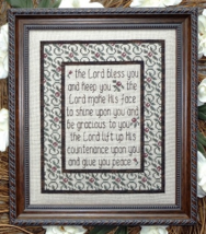 The Lord Bless You MBT120 cross stitch chart My Big Toe Designs - $8.00