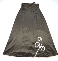 Silk Brown One Size Fits Most Maxi Wrap Flowing Bohemian Hippie A Line Skirt  - $9.89