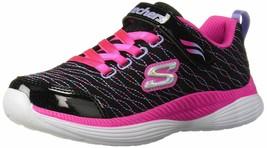 Skechers Kids Girls' MOVE'N Groove-Sparkle Spinner Sneaker, Black/neon P... - $39.96