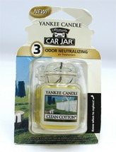Yankee Candle Clean Cotton Ultimate Car Jar, (Set of 3), New - $13.29