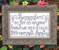 Normal Family MBT121 cross stitch chart My Big Toe Designs - $8.00