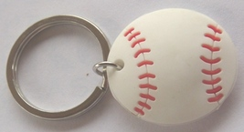 3D Rubber Softball Keychain Keyring Key Chain - 4pc/pack - $12.99