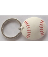 3D Rubber Softball Keychain Keyring Key Chain - 4pc/pack - $12.99