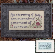 Joy and Sorrow MBT123 cross stitch chart My Big Toe Designs - $8.00