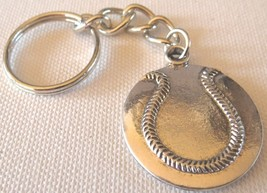3D Pewter Softball Keychain Keyring Key Chain - 2pc/pack - $11.99