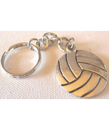 3D Pewter Volleyball Keychain Keyring Key Chain - 2pc/pack - $11.99