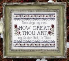 How Great Thou Art MBT125 cross stitch chart My Big Toe Designs - $8.00
