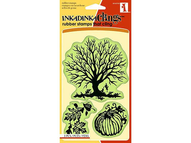 Inkadinkado Rubber Stamp Set, Papercut Fall #60-60160