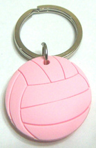 3D Rubber Volleyball Keychain Keyring Key Chain Pink - 4pc/pack - $12.99