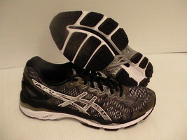 Asics mens gel kayano 23 lite show running shoes carbon silver size 8 us - $118.75
