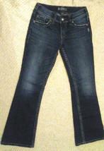 Silver Jeans Suki Surplus Dark Denim Distressed Bootcut Womens Size 26x30 - $17.77