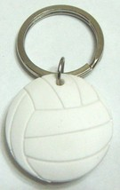 3D Rubber Volleyball Keychain Keyring Key Chain White - 4pc/pack - $12.99