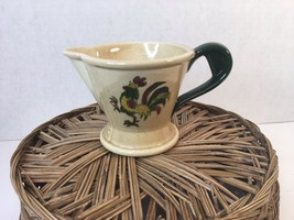 """Vintage Mid-Century Poppytrail By Metlox """"Provincial"""" Rooster Creamer Pitcher - $8.50"""