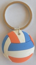 3D Rubber Volleyball Keychain Keyring Key Chain Mixed Colors - 4pc/pack - $12.99