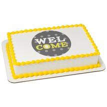 Welcome Baby Polka Dot Edible Cake Topper Image - €8,54 EUR+
