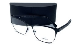 Prada Unisex Black Metal Glasses 5618 with case VPR 57U 1BO-1O1 56mm - $209.99