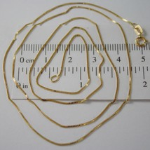 18K YELLOW GOLD CHAIN NECKLACE 0.5 mm MINI VENETIAN LINK 17.71 IN. MADE ... - $99.00