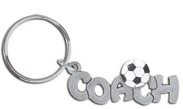 3D Pewter Soccer Coach Keychain Keyring Key Chain - 2pc/pack - $11.99