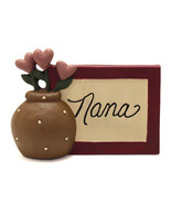 Blossom Bucket Folk Art Nana Tabletop Sign with Heart Flowers - ₨166.06 INR
