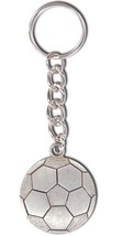 3D Pewter Soccer Ball Keychain Keyring Key Chain - 2pc/pack - $11.99