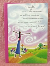 Fancy Mother/'s Day Greeting Card for DAUGHTER DIL FREE ENVELOPE TriFold Garden