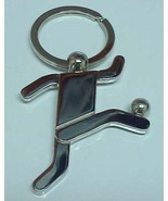 3D Pewter Soccer Player Keychain Keyring Key Chain - 2pc/pack - $11.99