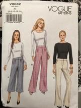 Vogue V9032 Misses Below Waist Pants Sizes 6-14 Uncut 3 Different Styles - $20.55