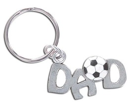 3D Pewter Soccer Dad Keychain Keyring Key Chain - 2pc/pack - $11.99