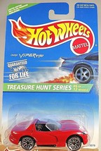 1996 Hot Wheels #433 Treasure Hunt Series 6/12 DODGE VIPER RT/10 Red w/Lace SP - $13.75