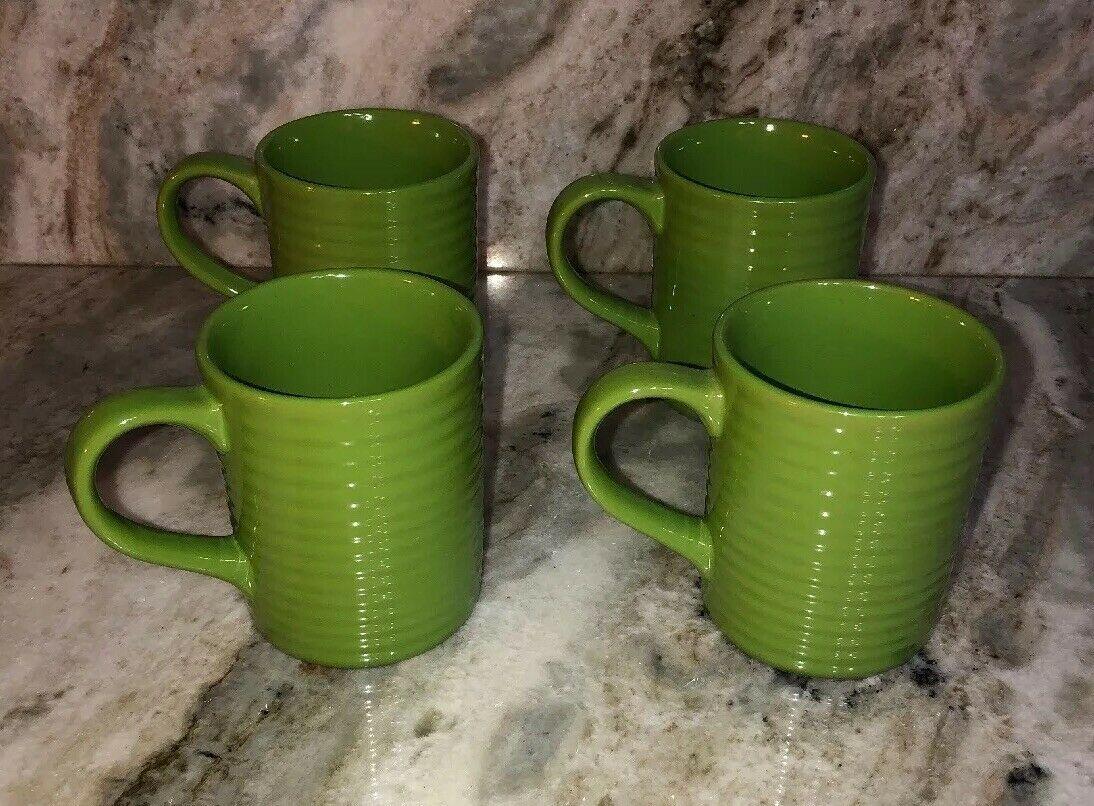 "Royal Norfolk 4 1/2"" Coffee Cups Mugs Set Of 4 Lime Green(New)SHIPS N 24HR RARE - $39.48"