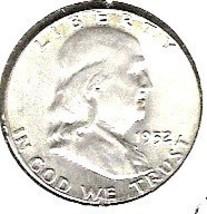 Choice B.U. 1952P Franklin Half - $20.00