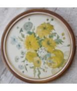 Beautiful Antique Artwork Print - Unique Round Wooden Frame - GDC - GREA... - $59.39