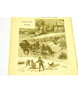 Antique illustrations 1891 - Winter in the Country - $5.00