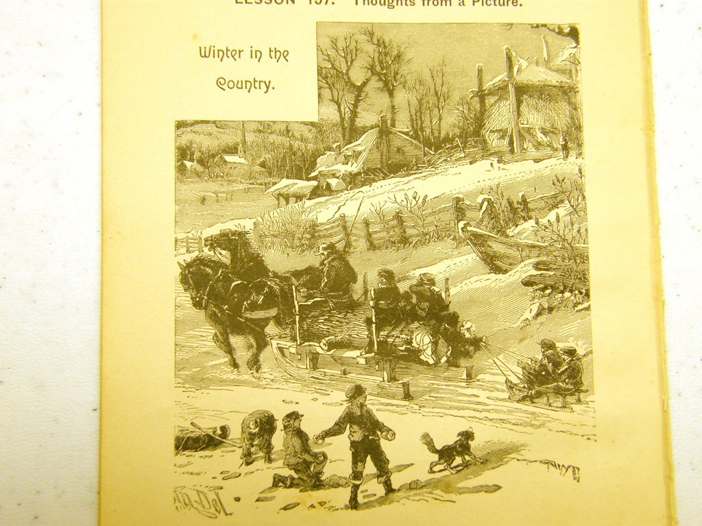 Antique illustrations 1891 - Winter in the Country