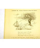 Antique illustrations set 1891 - children, creek, peddler bo - $4.00