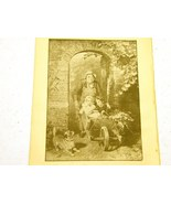 Antique illustrations set 1891 - child, girl, play, cat, whe - $4.00