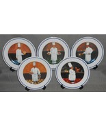 Set (5) Williams Sonoma GUY BUFFET CHEF SERIES PATTERN Salad Plates JAPAN - $69.29