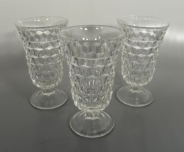 Fostoria American Flat Juice Glass Goblet (S) Lot Of 3 Crystal Made In Usa - $24.70